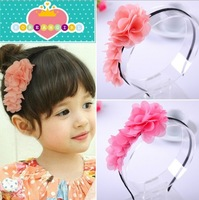 Min order is $10 freeshipping(mix order) kids Baby accessories children Girls jewelry baby headwear Hair clips pink flower R4560