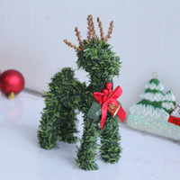 Factory direct large favorably Christmas decoration lovely deer for christmas desk decoration free shipping