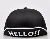 2013 new arrival embroidered cap hello hats hip-hop cap hats cap Snapback Baseball bboy caps k-pop baseball cap hiphop cap