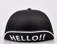 2013 new arrival embroidered cap hello hats hip-hop cap hats cap Snapback Baseball bboy caps k-pop baseball cap hiphop cap