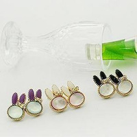 1321 Korean small jewelry wholesale cute super popular shells sweet little bunny earrings