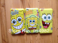 free shipping 3 designs cartoon Spongebob case hard plastic case for ipod touch 4