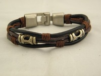 Min Order $15 Wholesale New Genuine Leather Wristband Bracelets Jewelry For Men Top Quality