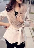 EAST KNITTING Free Shipping OC-002 Women's wool Coat Fashion Warm Winter Leasure Wear Cloak Blends Fur Jacket