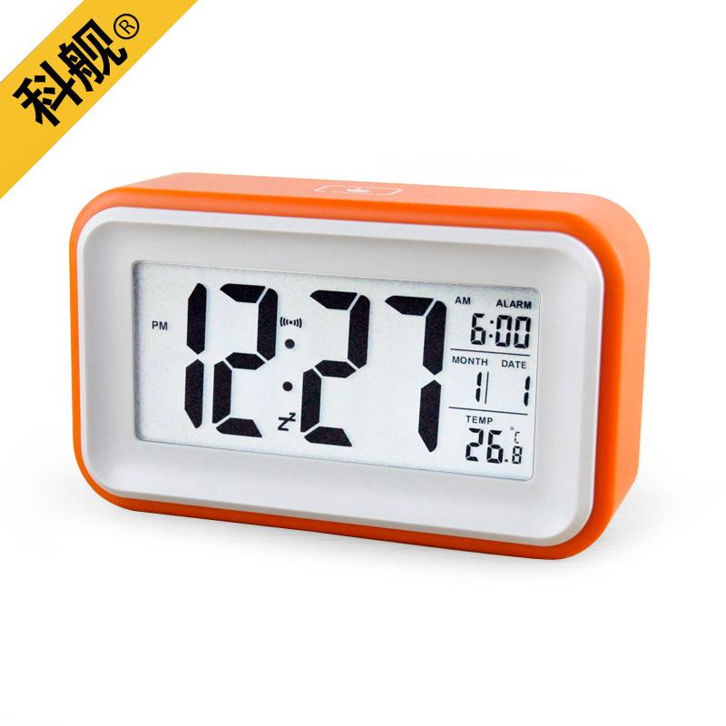 Digital Clock Font Fashion small alarm clock touh sensor mute led ...