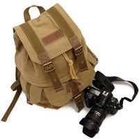 Vintage Canvas DSLR Camera Bag Backpack Canon EOS Rebel XS XSi T1i T3 T3i T2 T2i high quality factory price free shipping
