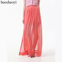Fashion chiffon haoduoyi elegant chiffon bust skirt