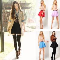 Haoduoyi 2012 candy color bust skirt sweet high waist skirt with belt 4 5 full