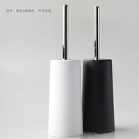 MY BIJOUX Flowers and fashion brief black and white toilet brush set stainless steel handle plastic toilet brush