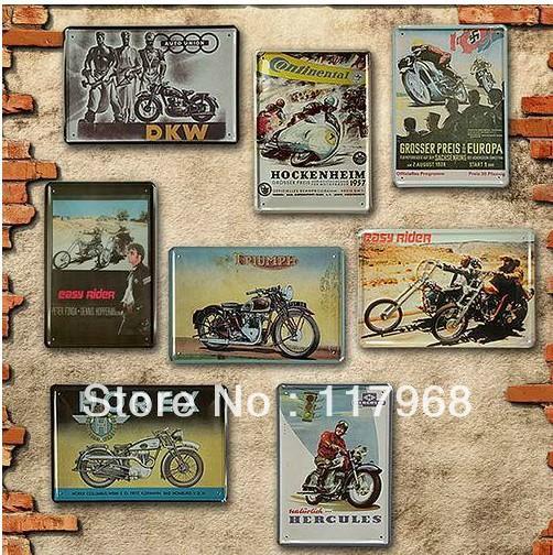 Estilo Vintage Decoracion Caracteristicas ~ da parede do Vintage da motocicleta placas de Metal estilo Retro