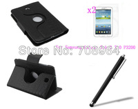 New Rotating 360 Wireless Bluetooth Crocodile Grain Keyboard Leather Case +2xFilm+Stylus For Samsung Galaxy Tab 3 P3200