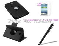 New Rotating 360 Wireless Bluetooth Crocodile Grain Keyboard Leather Case +2xFilm+Stylus For Samsung Galaxy Tab 3 P3200