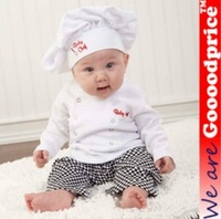 Baby Party Costume Character Professional Chef /Cooking Full set with Hat 6-24m