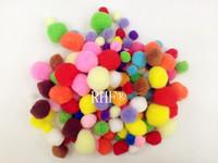 Small multicolour plush ball fur ball diy hair root cocktail bar handmade materials