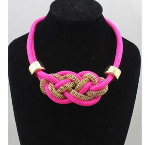 New Arrival Cheap Fluorescent Necklace Rope Neon Choker Neckalce Retail 2013(China (Mainland))