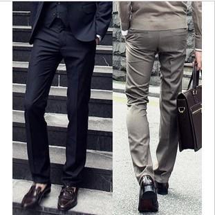 Free shipping 2014 NEW high quality men pants, Men's Suit Pants ,casual slim men's pants (without belt) 4 colours ,Black W726