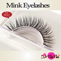 Fashion Top Quality 100% Real Mink Soft Hair Strip Animal False Eyelash Eye Lashes Makeup Party Beauty Free Shipping IN a BOX