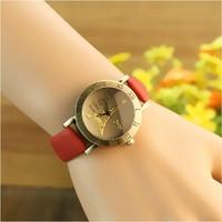 relogio feminino leather beautiful women fashion Dress wrist watches eiffel tower vintage retro style ladies quartz wristwatches