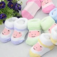 (3Pairs/lot)Bear shape newborn baby  cotton three-dimensional baby sock