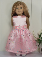 "18""Doll Clothes Pink Party Dress fit 18'' American Girl 1024g"