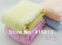 Free shipping New design Waste-absorbing four colors soft plus size thickening 100% cotton bath towel baby towel 70x140cm 400g