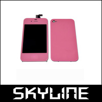 High Quality Pink Full Touch LCD Screen Digitizier Cover Replace For Iphone 4