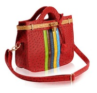Handbags 2013 new ostrich pattern with contrast color candy color crocodile pattern handbag Mobile Messenger bag free shipping