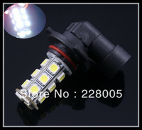 2 pcs HB4 9006 18 SMD 5050 Car LED White/ Warm White Fog Head Light Lamp Bulb DC 12V car light  Free Shipping