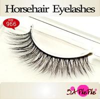 2013 Professional Natural Long 100% Real Horse hair Soft Hand-made False Eyelashes Eye Lash Makeup Party  Free Shipping In Case