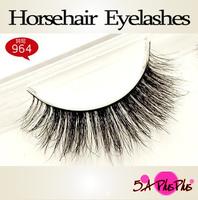 2013 Fashion Natural Long 100% Real Horsehair Soft Handmade False Eyelashes Eye Lashes Makeup Party Show Free Shipping