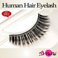 Wholesale Natural Long Thick Real Human Soft Hair Strip False Eyelash Big Eye Makeup Party Beauty Free Shipping IN a BOX