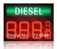 7 Segment Oil/Gas fuel /diesel green 12 8'' 8.889/10 digital numbers led gas/oil/petrol station price display sign board screen