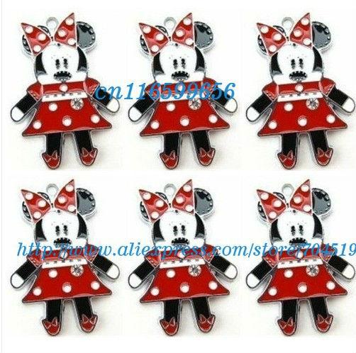 Atacado 20 pcs Minnie Mouse apreciação jóias encanto do Metal pingentes artesanato fazer jóias DIY caçoa presentes(China (Mainland))