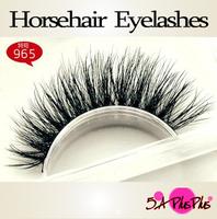 2013 Wholesale Natural Long 100% Real Horsehair Soft Hand-made False Eyelashes Eye Lashes Makeup Party Show Free Shipping