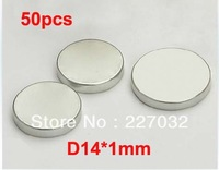 50pcs/lot N35 Strong Cylinder Magnet D14mm X 1mm Round Rare Earth Neodymium Bulk