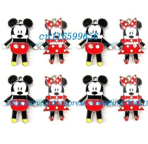 Novo 20 pcs Mickey Mouse Minnie Mouse apreciação jóias encanto do Metal pingentes artesanato fazer jóias DIY caçoa presentes(China (Mainland))