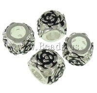 Free shipping!!! Celebrity silver color plated without troll & enamel Zinc Alloy Drum European Beads for Women Bracelets