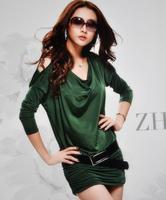 9602 Free shipping 2013 autumn new fashion stylish Strapless off shoulder Pleated Club Dress