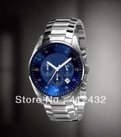 Men's AR5860 AR 5860 Man's Chronograph Watch Blue Dial Wristwatch + Original BOX free shipping