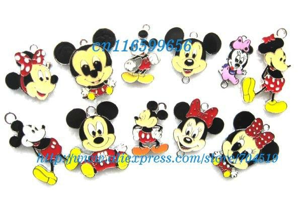 Novo 20 pcs Mickey Minnie Mouse misturado apreciação jóias encanto do Metal pingentes artesanato fazer jóias DIY caçoa presentes(China (Mainland))