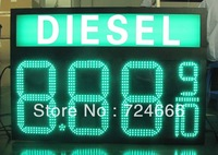"8"" Outdoor waterproof IP 65 led fuel price sign display with remote control Outdoor LED Fuel Price Sign Display screen board"