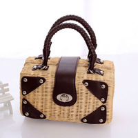 2013 women's vintage handbag small bags rattan bag straw bag mini handbag summer bag