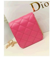 2013 Newest Small Sachet Quilted Chain Bags Korean Fashion Mini Shoulder Diagonal Package Female Bags Summer Fashion Small Bags
