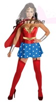 Free Shipping Fancy Dress Halloween Costumes For Adults Cosplay Superhero Superman Superwoman Costume Women
