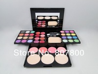 2013 New Arrival Free shipping 24color eye shadows+4 blush+8 color lip gloss+3 color pressed powder/50G minerals makeup kit