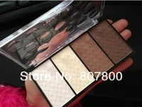 2013 New Arrival Fashion Makeup set four-color trimming powder high light shadow powder blush rouge Hyper-V little face