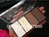 2013 New Arrival Fashion Makeup set four-color trimming powder high light shadow powder blush rouge Hyper-V little face