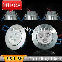 10PCS 3W LED Downlight AC85-265V White/Warm white LED Down Lamp Free shipping