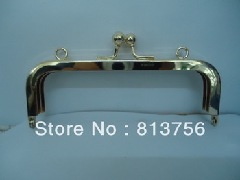 30pieces  14*5cm  Purse Frame with ball clasp  - shiny gold  -- Free Shipping