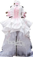 RL06968 Chobits Chii Pink White Gorgeous Lolita Cosplay Costume Size S/M/L/XL